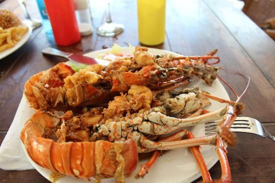 Seaside terrace caribbean lobster local 39 dive 39 seafood for Local fish restaurants