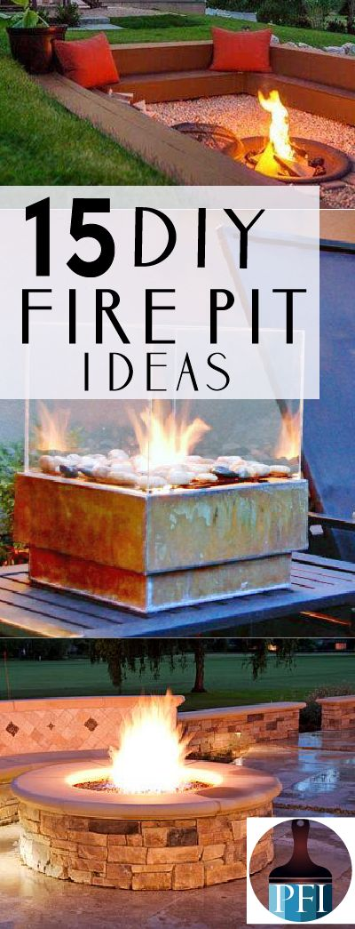 Here are 15 of my favorite backyard fire pits tutorials. These are easier to make than you may think! Bring on the memories!!