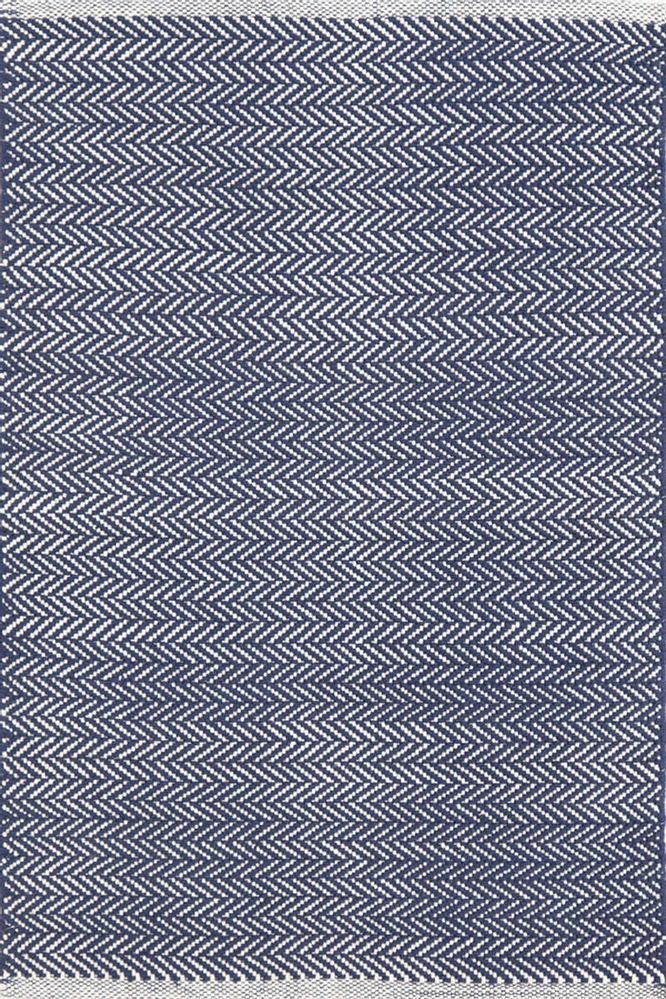 Dash And Albert - Dash And Albert Herringbone 105511 Indigo Area Rug #105511