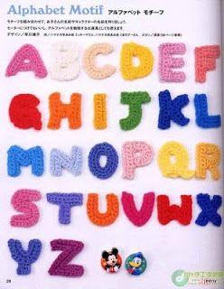 Crochet.es.un.arte!: Crochet - Letras a Crochet