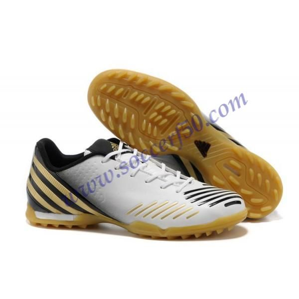 Latest Listing White Black Gold Adidas Predator LZ Football Shoes For  SaleFootball Boots For Sale