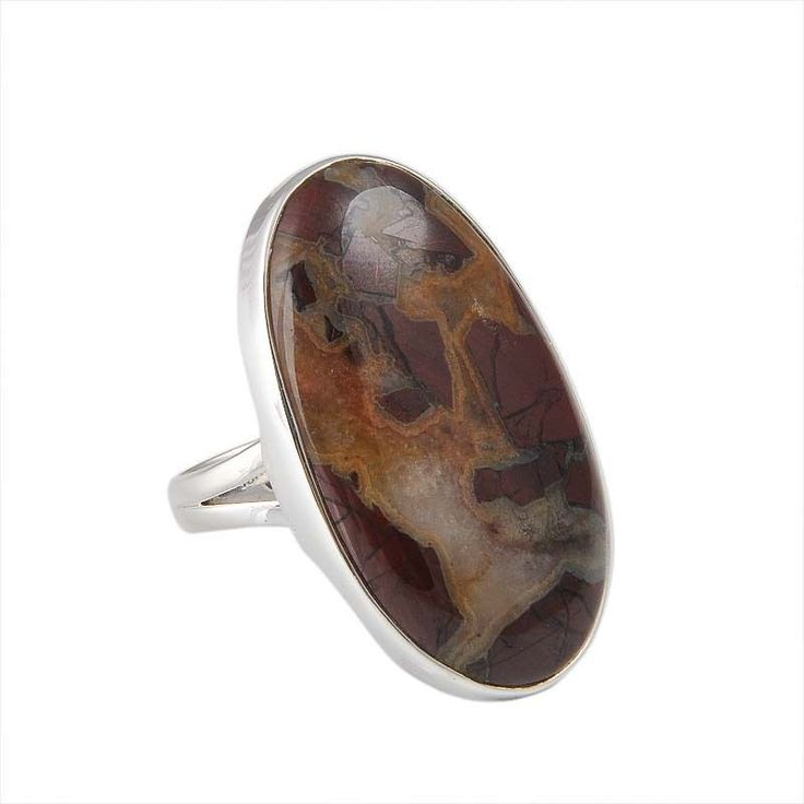 ANTIQUE 925 STERLING SILVER 10.02g DRAGUN BLOOD BIG STONE RING JEWELLERY #Handmade #RING