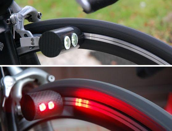 Llums de bicicleta amb dinamo sense fricció. La recàrrega per inducció te futur.