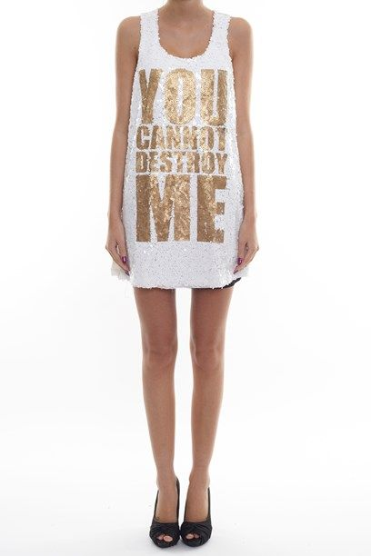IVY KJOLE Sequin dress with statement.