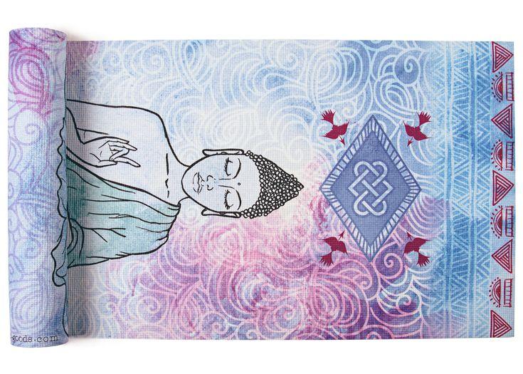 Namaste Printed Yoga Mat by vagabondgoodsyoga on Etsy