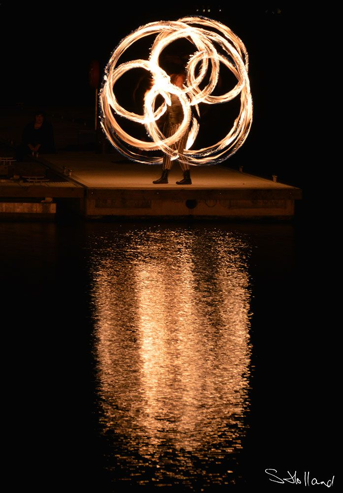 fire poi, fire performing