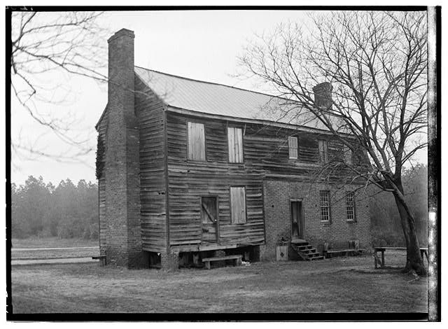 Gathwright House, Route 156, Old Cold Harbor, Hanover County, VA   circa 1780, Interesting vernacular building, reputedly used as a hospital during the Civil War battle of Cold Harbor.
