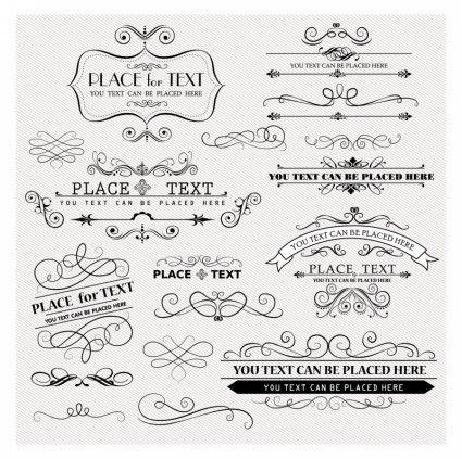 Scrolls vintage design elements