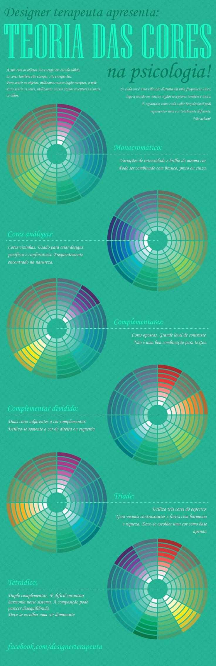 Designer terapeuta apresenta:  TEORIA DAS CORES na psicologia!  Se cada cor é uma vibração distinta em uma frequência única, logo a reação em nossos órgãos receptores também é única. É espantoso como cada valor hexadecimal pode   representar uma cor totalmente diferente. Não acham?