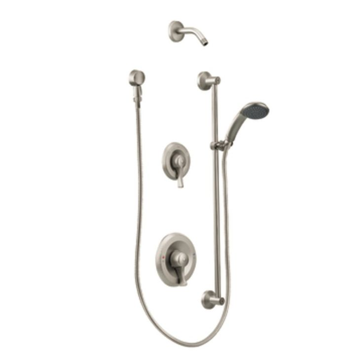Shop Moen Commercial Classic Brushed Nickel 1-Handle Commercial Faucet at Lowes.com