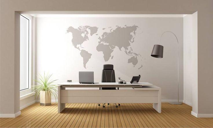 Ozdoba ściany w postaci mapy świata, idealnie pasuje zarówno do pomieszczeń biurowych jak i pokojów dziecięcych.  http://mural24.pl/konfiguracja-produktu/110257004/ #homedecor #fototapeta #obraz #aranżacjawnętrz #wystrójwnętrz, #decor #desing