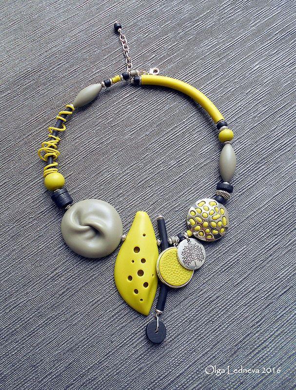 Cernit. Grey bead inspired by Dan Cormier   by Ольга Леднева