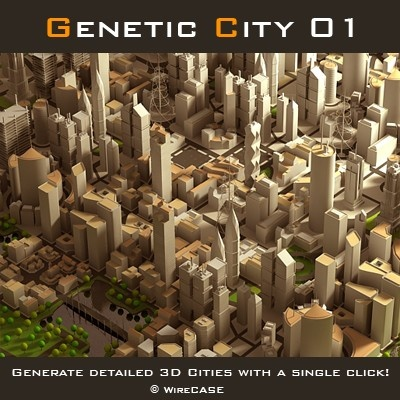 Generate detailed 3D cities with a single click! MaxScript .mse