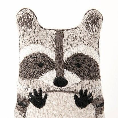 Raccoon - DIY Embroidered Doll Kit