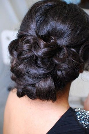 up-do #hairstyle ideal for a glamorous #wedding. Reminds me of a Catherine Zeeta Jones look  Auto charity preview