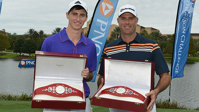 Stewart Cink with son Connor win PNC Father/Son Challenge...congratulations!