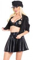 4pcs Sexy Female Cop Costume