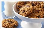 I used the oatmeal raisin recipe on the inside top of Quaker Oats. I added golden raisins and some frozen blueberries I had. Patted mix into a baking dish. Baked at 350 for about 30 min or until golden gown. To make it a little healthier I cut sugar in half and added a just a pinch more cinnamon. You can add any fruits or nuts you like!