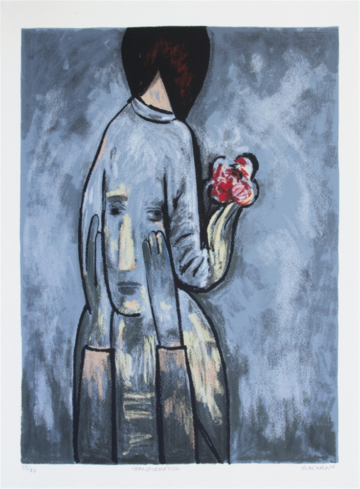 Charles Blackman ~ Transformation (from Girls and Flowers)