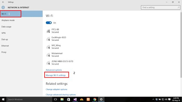 How to forget wifi password in windows 10 ?
