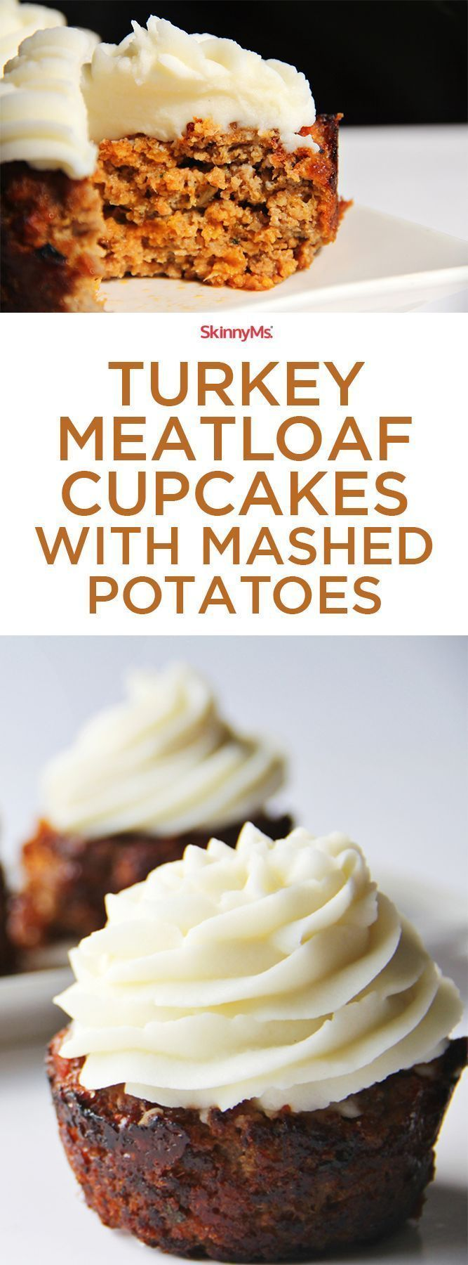 Nutritious cupcakes for dinner? You know it! These Turkey Meatloaf Cupcakes with Mashed Potatoes are guaranteed to be a hit! #cleaneating