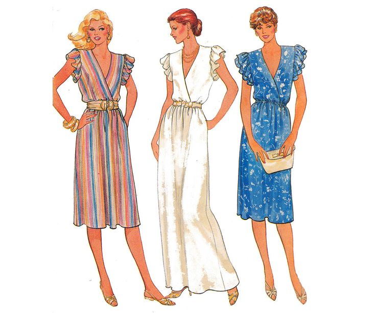 PLUS Size Wrap Dress Maxi Dress Pattern Butterick 4170 Vintage 80s Maxi Prom Dress Size 18 20 22 Bust 40 42 44 inches UNCUT Factory Folded by allthepreciousthings on Etsy https://www.etsy.com/au/listing/189964168/plus-size-wrap-dress-maxi-dress-pattern