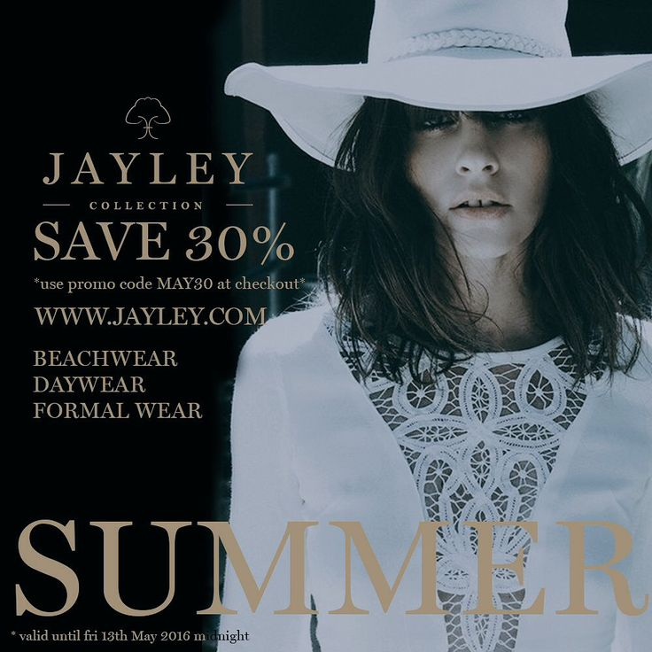 """JAYLEY on Twitter: """"#save #maysavings 30% off #beachwear #holidays #pretaporter #lace #crochet code MAY30 to #save RT to win #bagtag https://t.co/b4CqllzNDx"""""""