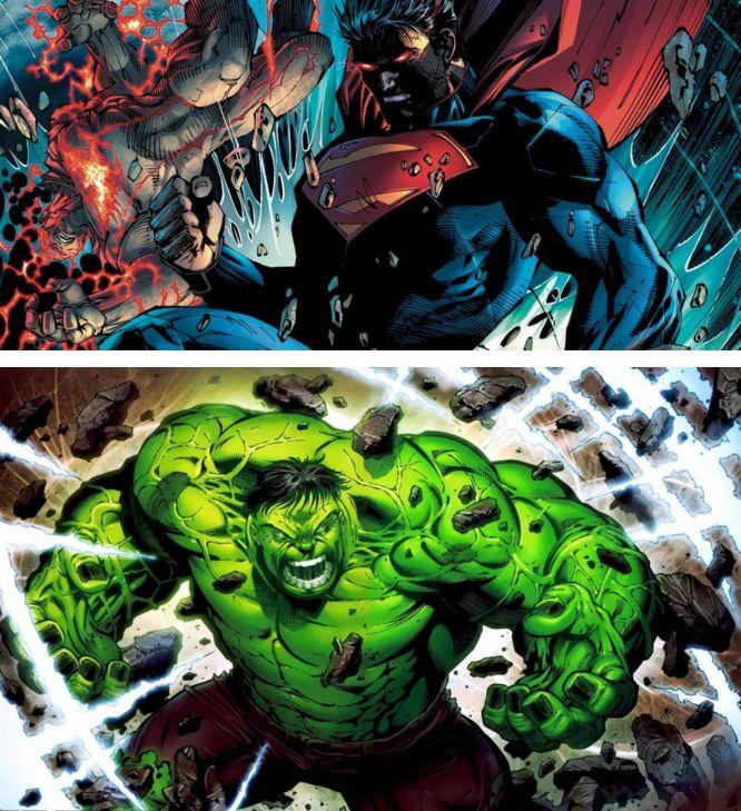 Hulk vs Superman at http://pinstor.us/articles/hulk-vs-superman-a-fight-between-ultimate-strength-titans/