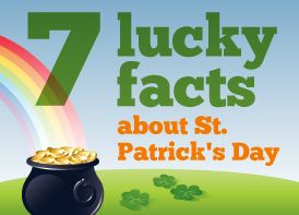 We're going to plant a shamrock garden and then talk about St. Patrick's Day. I thought this was an interesting article.