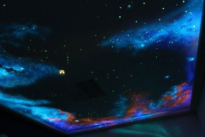 Glow in The Dark Star Ceiling Painting Kit Wall Painting Murals Space Fantasy