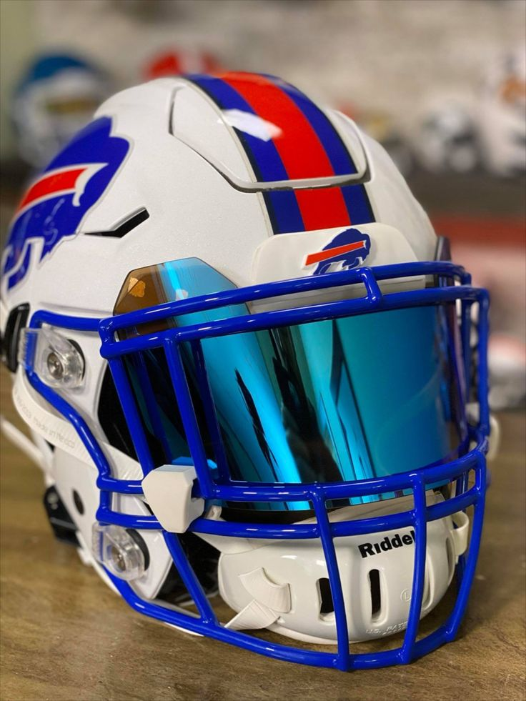 Buffalo bills custom helmet with blue facemask in 2020