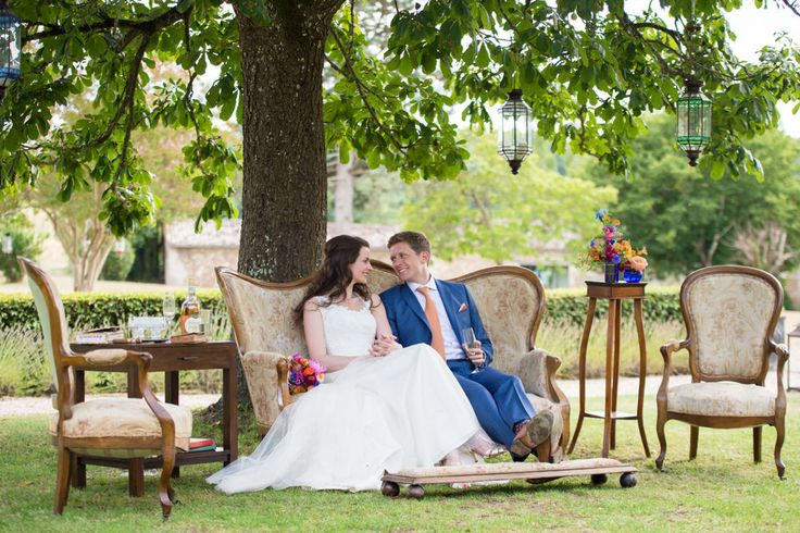 Chateau Rigaud | Bright Colour Scheme | Bespoke Wedding Dress by My Eden | Flowers In The Vines | Especially Amy | South West France Destination Wedding | http://www.rockmywedding.co.uk/claire-hugh/