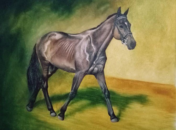 #horse #painting #oilpainting #horses #horse #painting #oil #olipainting #lo #lovak #festmény