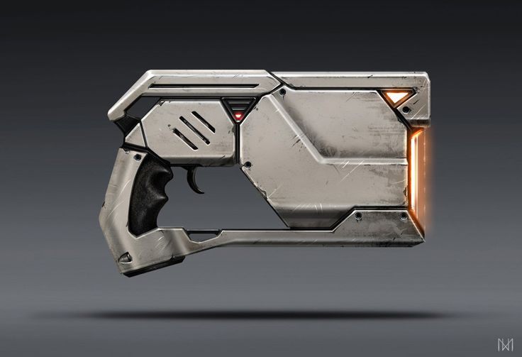 Sci-fi gun, Nagy Norbert on ArtStation at https://www.artstation.com/artwork/xoNnX