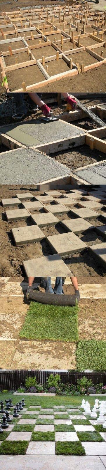 DIY - Make a Giant Chess Board In Your Backyard