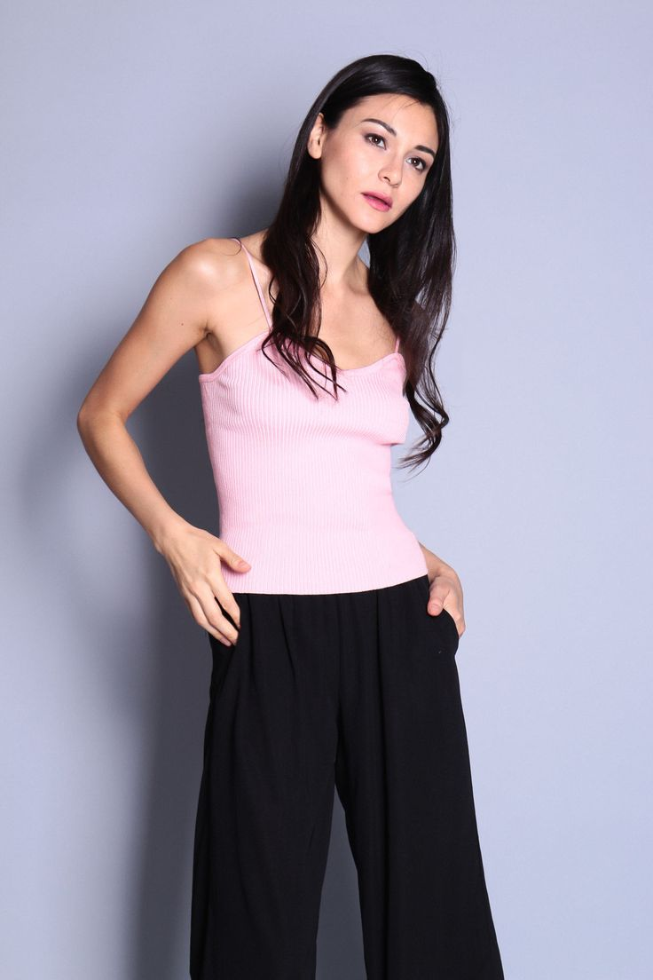 Sweetheart Cami Knit Top (Pink) SGD$ 26.00