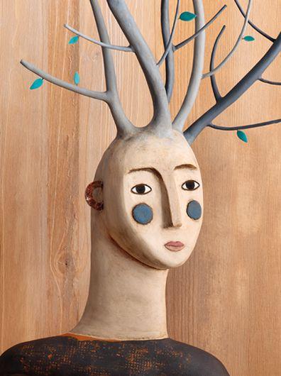 "clay sculpture (more ceramics & porcelaine art in my vboard ""ceramics art"". Irit)"