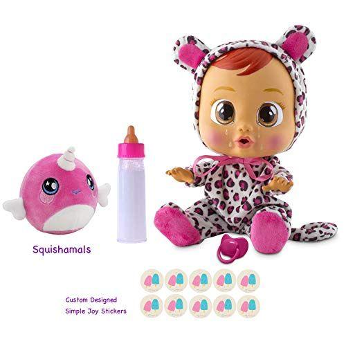 Cry Babies Lea Baby Doll Gift Set Little Girl Toys Baby Dolls Barbie Dolls Diy
