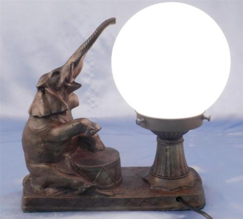 Art Deco~NuArt Design Circus Elephant Lamp~OWN HIM EBAY 150$