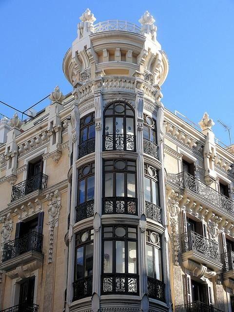 Art nouveau immeuble avec verri res madrid - Art deco espana ...