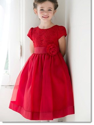 Chloe - Girls gorgeous lace bodice Gown This Sweet  Dress available in Red, Purple, White or Ivory Sizes 2-4-6-8-10