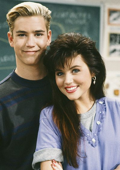 Zack Morris & Kelly Kapowski from Saved by the Bell.