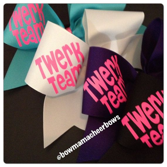 Twerk Team Cheer Bow on Etsy, $9.50