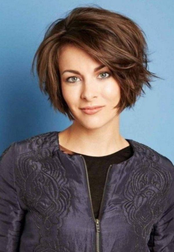 Cute bob. most convenient thick hairstyles for women0261