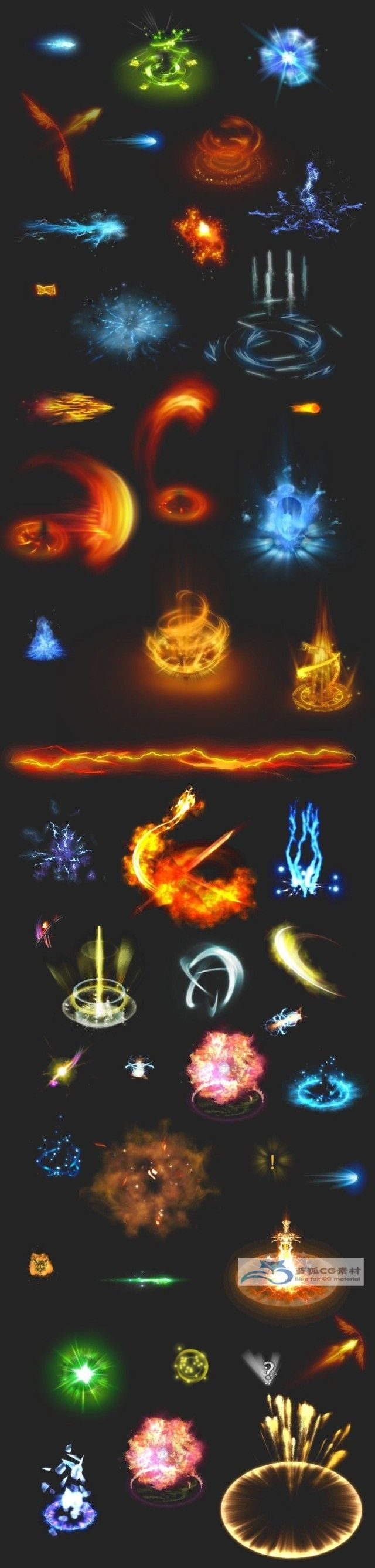 Game art material information material optical efficiency 68 special sets of skills ...
