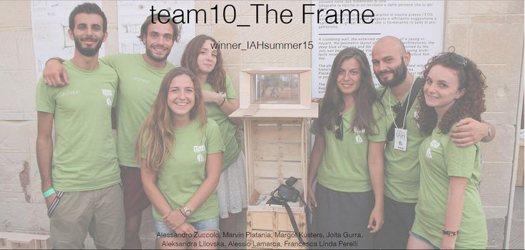 THE FRAME. Team 10. Winner project of the IAH international competition, San Cataldo, Lecce, 2015. Check out the full project at http://www.archistart.it/#!team-10-iah15/ctxq