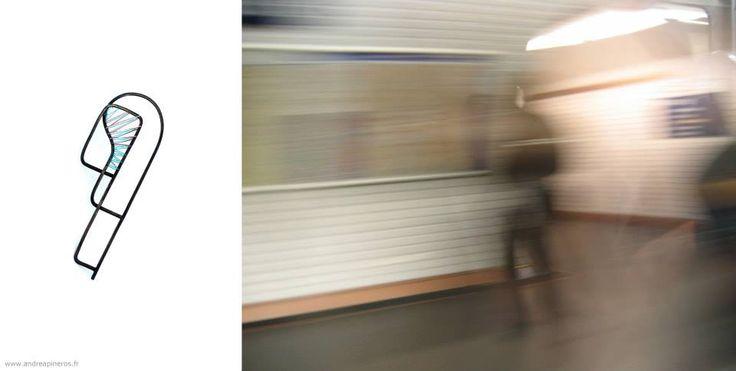 Andrea PIneros Bijoux - PHOTO METRO # 6 - Broche -  Andrea PINEROS Exposition CORRESPONDENCES Du 18 Octobre au 30 Novembre 2013 Galerie Lefor Openo 29, rue Mazarine 75006 Paris