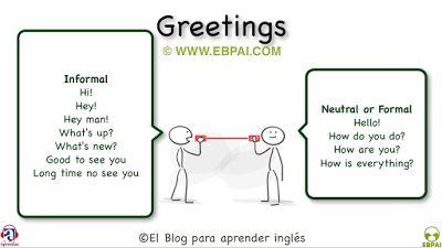 El Blog para aprender inglés: Cómo saludar en inglés (Formal e informal)