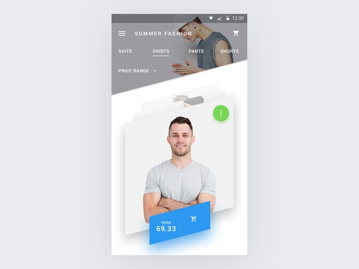 Material angle ecommerce product screen ui ux