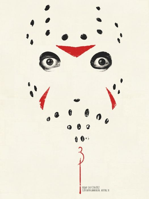 Mondo: The Archive   Jay Shaw - Friday the 13th Part 3: 3D, 2012